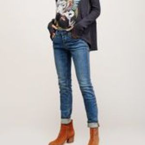 Free people 24 low rise skinny jeans 0464 blue